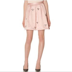 NWT The Limited Jeweled Satin Mini Skirt in Pink